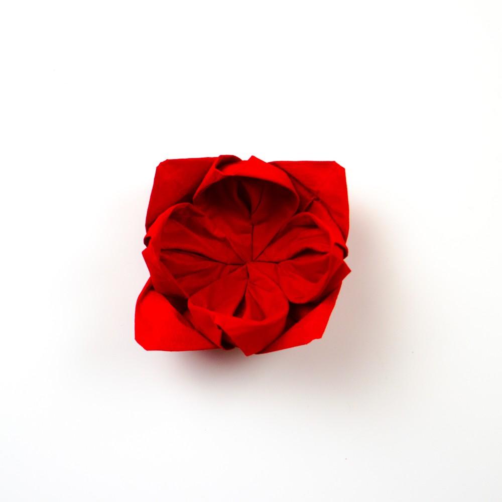 Servietten Rose - Schritt 18
