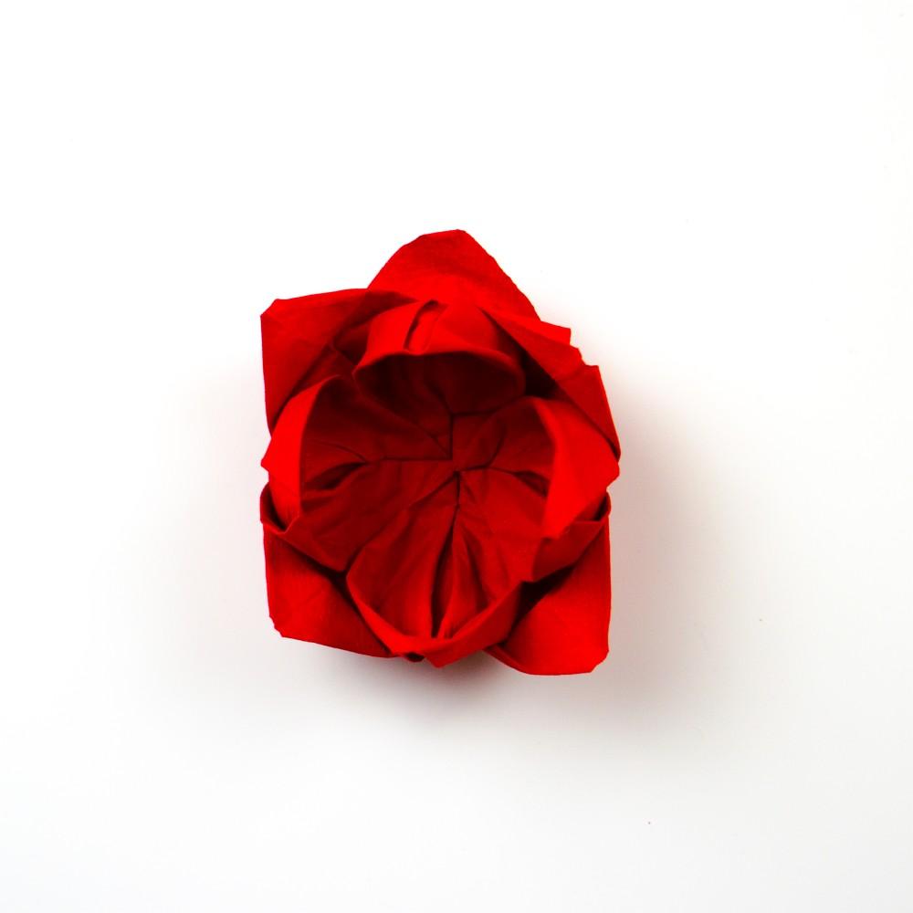 Servietten Rose - Schritt 20