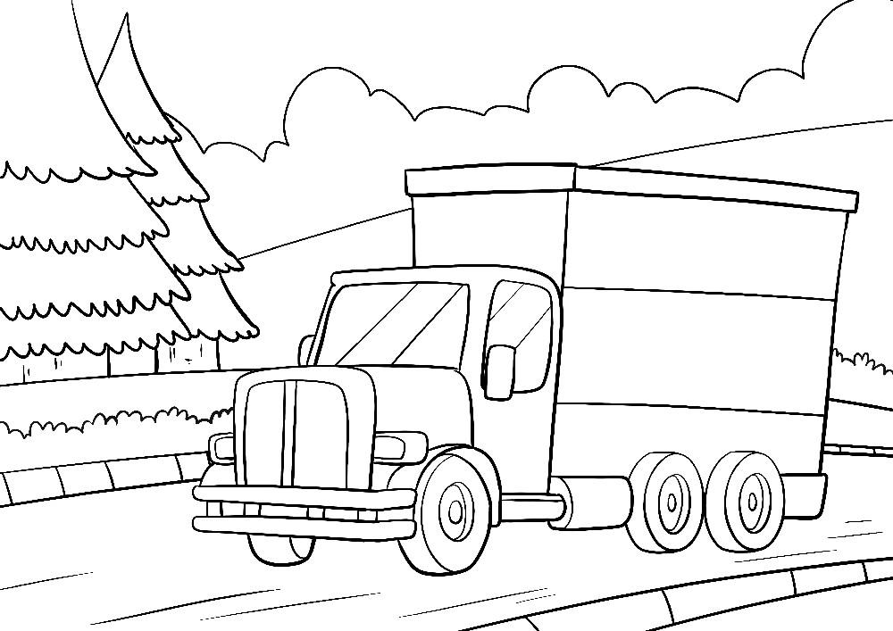 LKW auf einem Weg