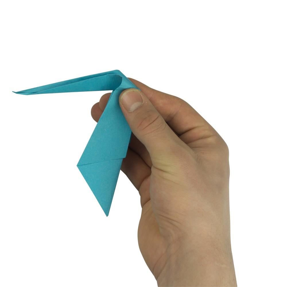 Origami Kranich - Schritt 9