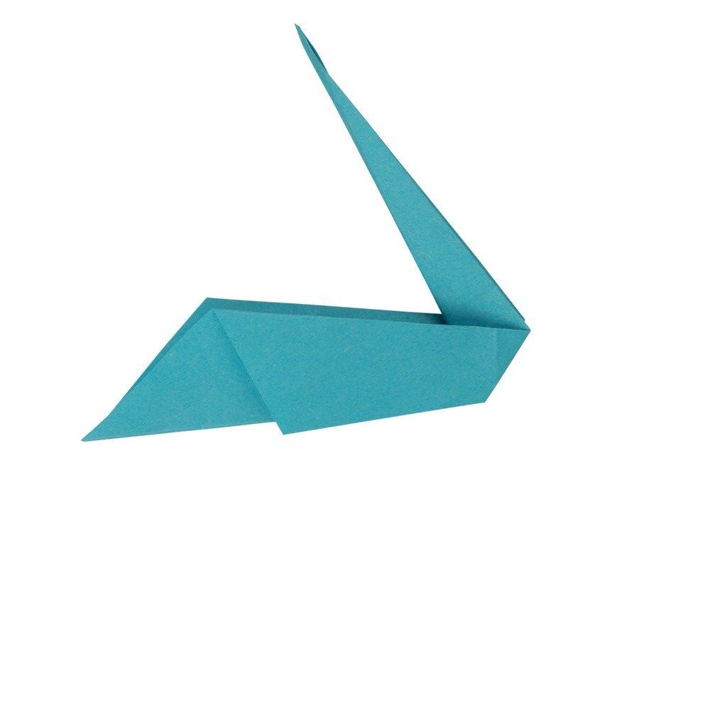 Origami Kranich - Schritt 10