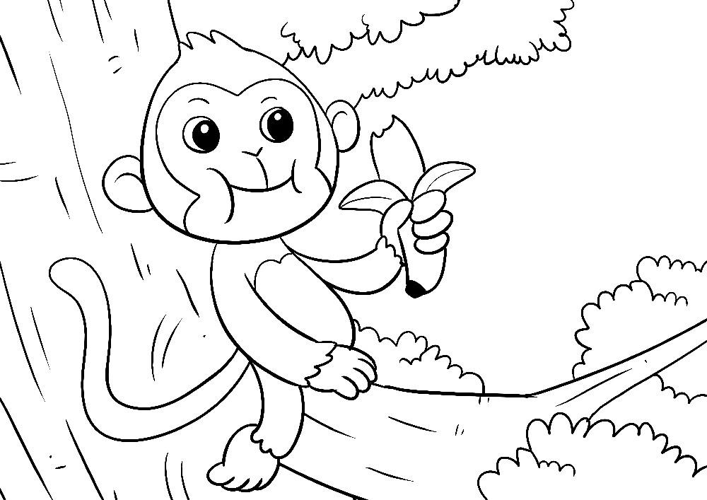 Affe isst Banane