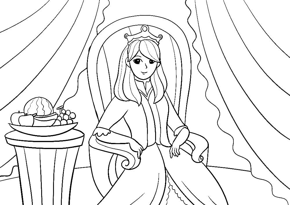 Prinzessin auf Ihrem Thron