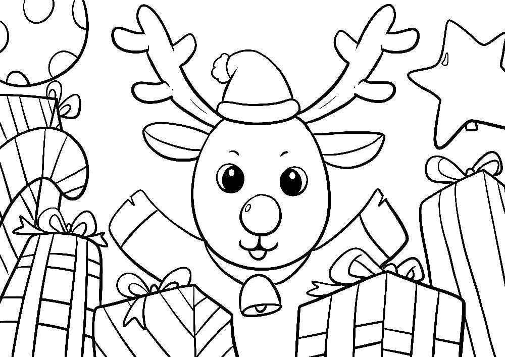 Ausmalbilder Weihnachten Ausdrucken.Ausmalbilder Weihnachten Kostenlos Ausdrucken Rentier In Geschenken