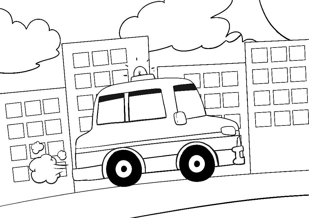 Feuerwehr Auto von der Seite