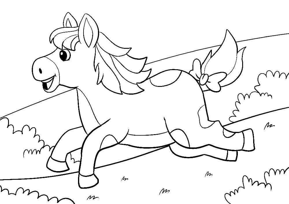 glückliches Pferd - es springt
