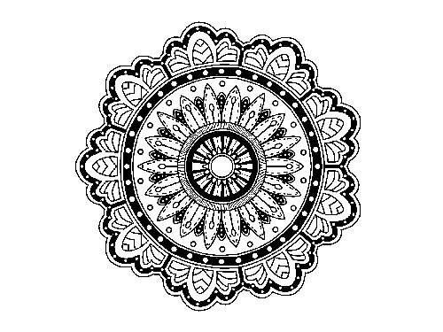 Mandalas kostenlos zum Ausdrucken - Schönes Mandala im Ethnostyle