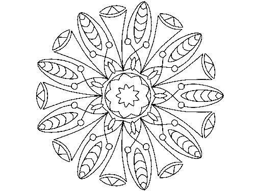 Mandala zum Ausdrucken - Mandala XIV - Jetzt kostenlos herunterladen