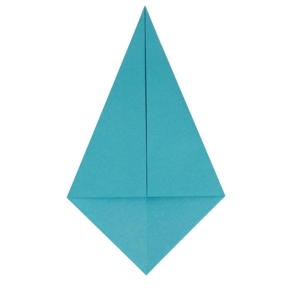 Origami Kranich - Schritt 3