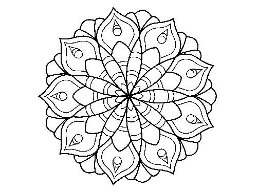 Malvorlagen für Erwachsene ➤ Mandala im oreantalischen Styl