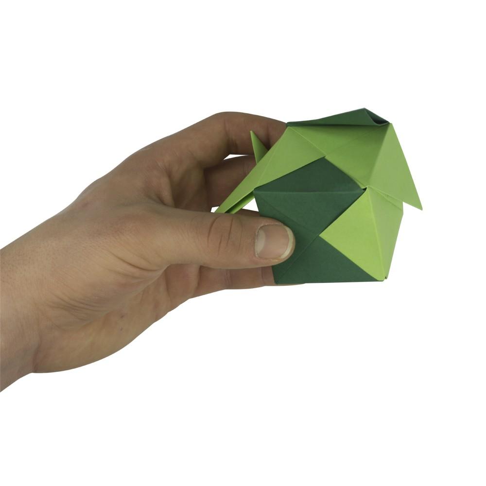 Extrem 3d Origami Anleitung - Würfel falten - Faltanleitung von Einfach NJ46