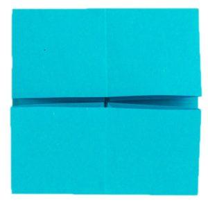 Origami Schmetterling Schritt 7