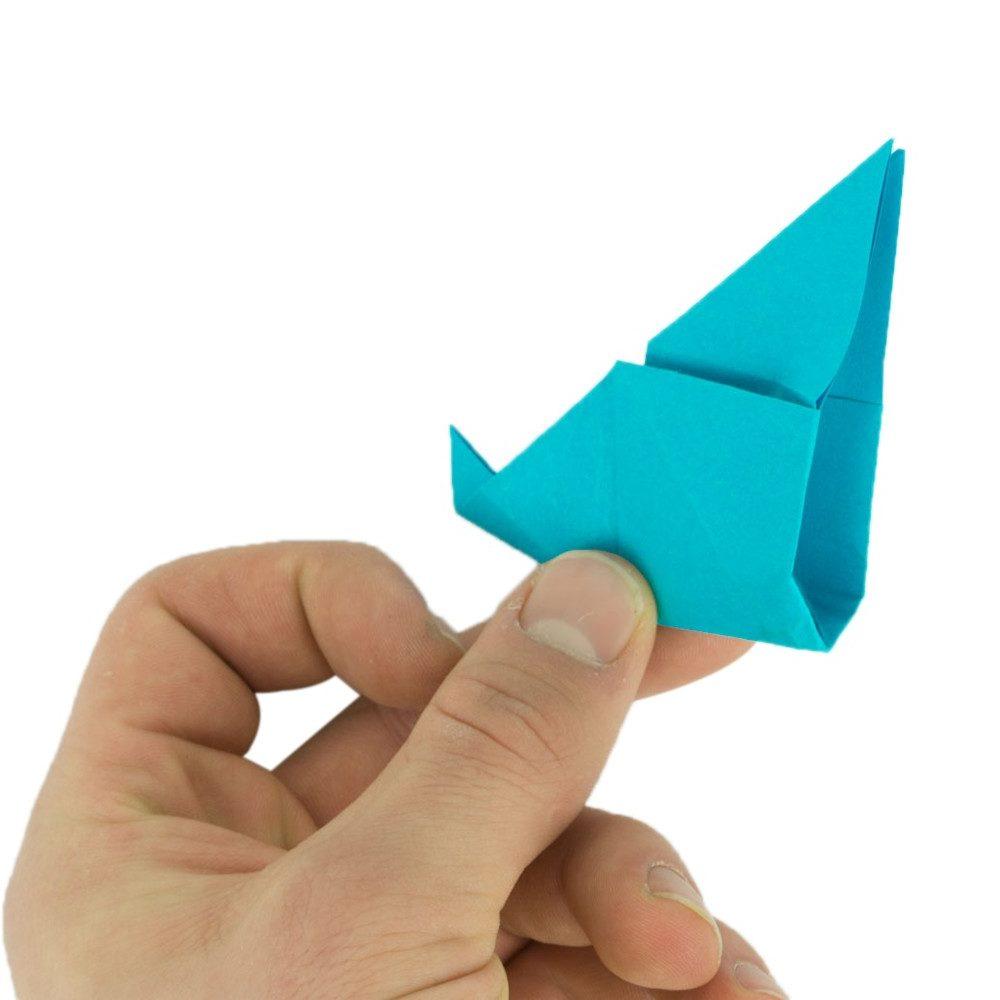 Origami Schmetterling Schritt 19