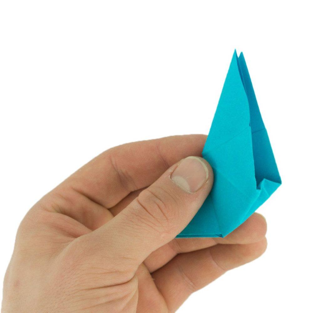 Origami Schmetterling Schritt 20