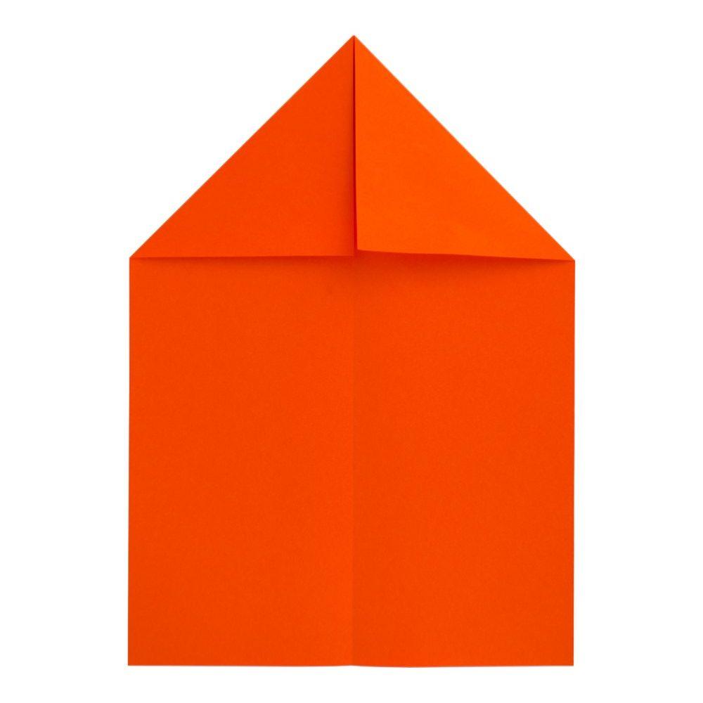 Papierflugzeug Gleiter - Schritt 3