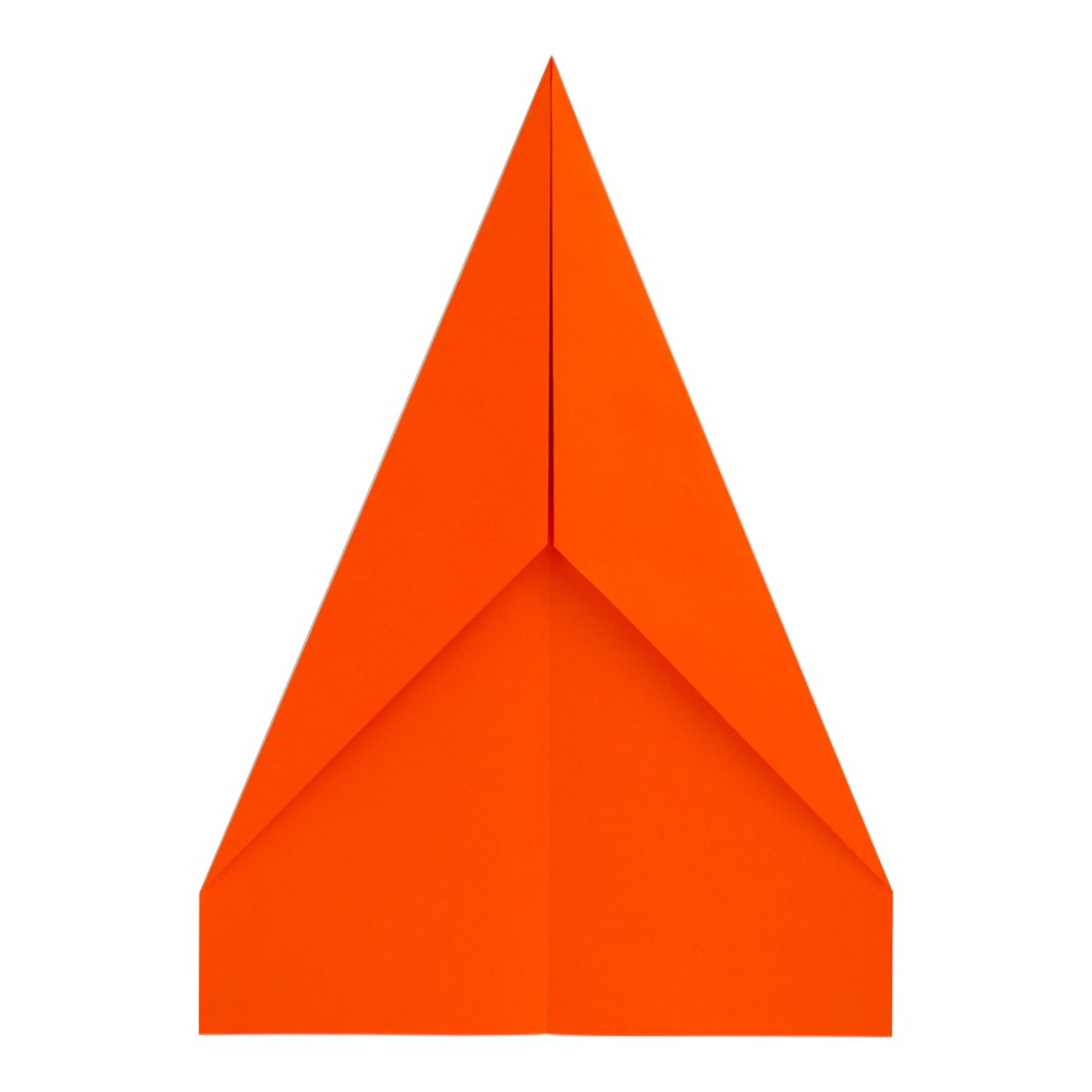 Papierflugzeug Gleiter - Schritt 5