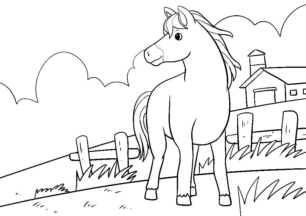 Pferd auf einer Koppel