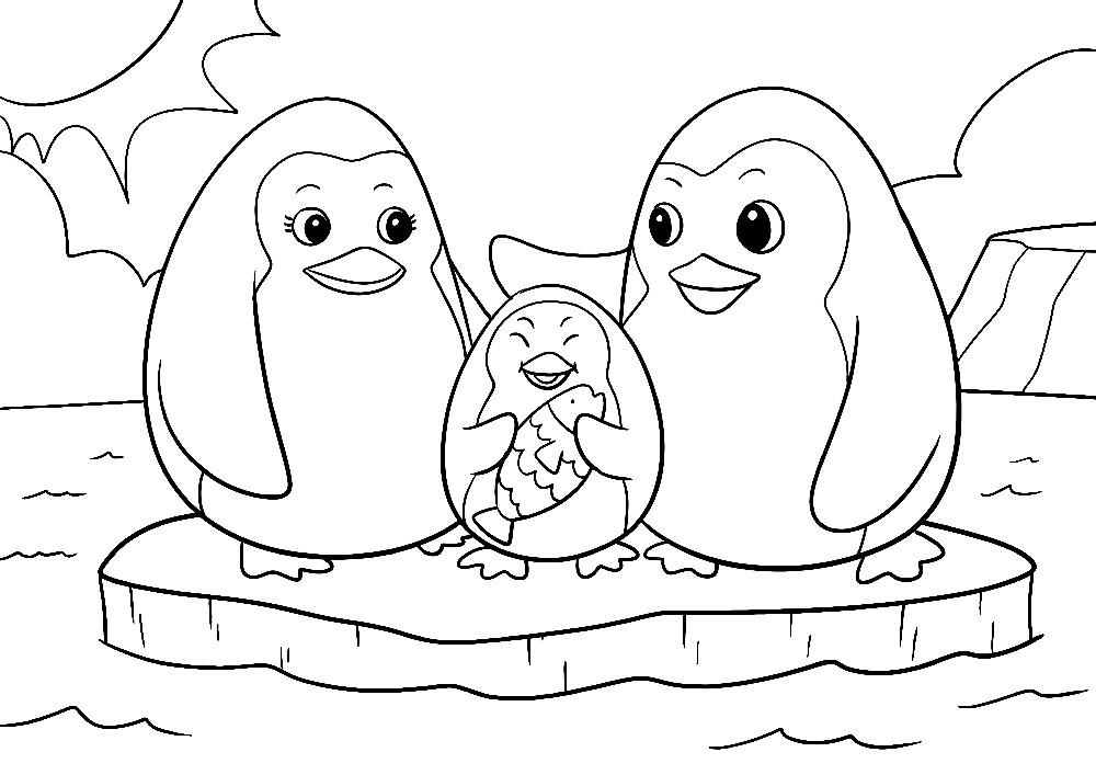 Pinguine auf einer Eisscholle