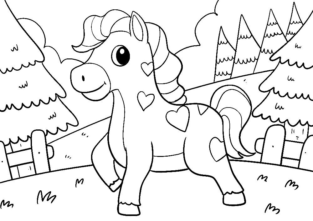 Pferd mit Herzchen