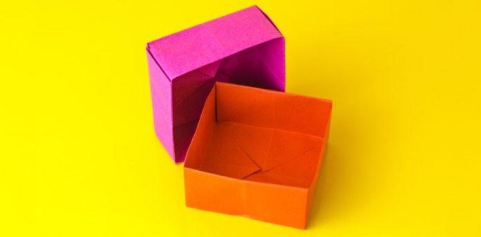 Schachtel falten, Geschenkbox basteln, Origami Box, Einfach Basteln
