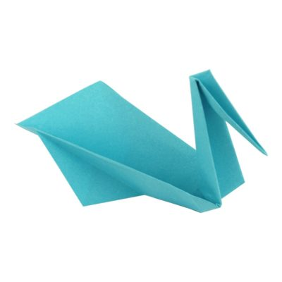 Origami Kranich - Fertig gestellt.