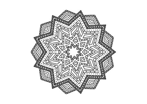 Kategorie Ausmalbilder Mandalas