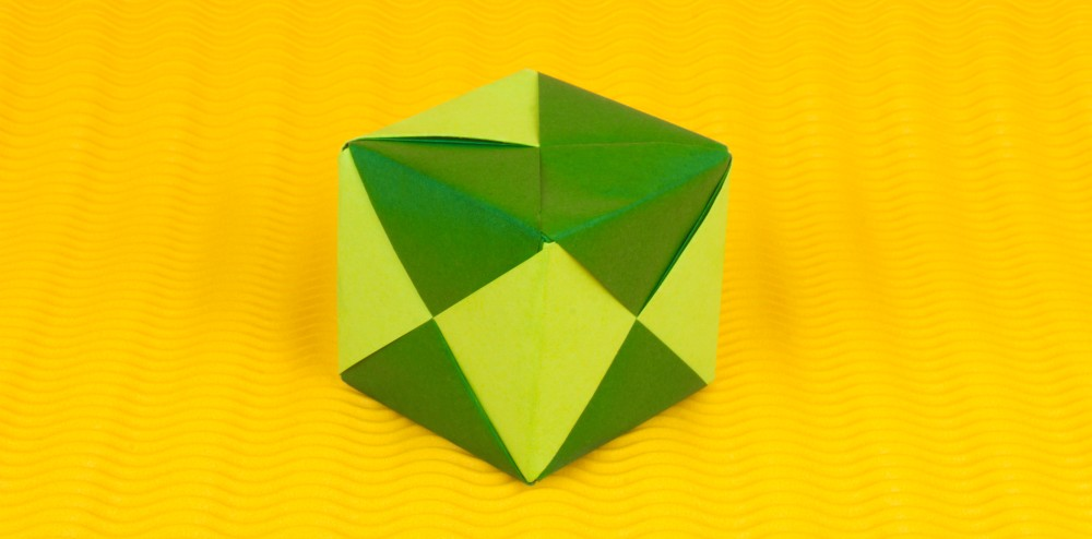 Super 3d Origami Anleitung - Würfel falten - Faltanleitung von Einfach GZ31