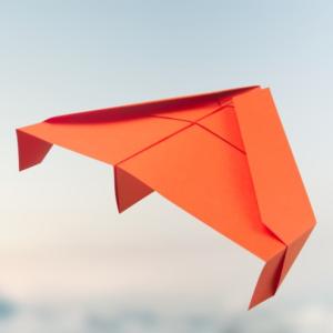 B2 Tarnkappenflugzeug - Papierflieger basteln - bleibe unter dem Radar!✈️