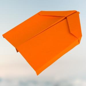 ✈️ Bigwing - Papierflieger falten - Der Flieger mit den großen Tragflächen!