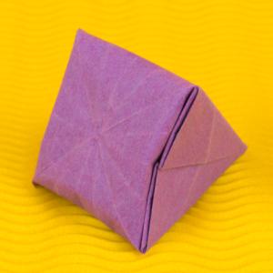 Prachtvoller Origami Diamant - Anleitung Diamanten falten (basteln)