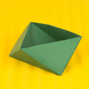 【Kleine Schachteln falten - Dreiecksschachtel - 8 Schritte Origami Box】