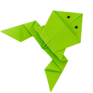 【ᐅᐅ】Hüpfenden Origami Frosch falten - Anleitung Papierfrosch basteln!