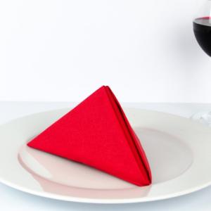 Einfache Servietten falten - Anleitung für Pyramide - Servietten Deko!