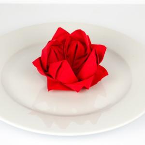 ᐅServietten Rose Anleitung - Servietten falten - Papierservietten