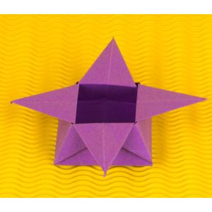 Kleine Origami Schachtel mit Spitzen falten - Anleitung von Einfach Basteln