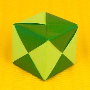 3d Origami Anleitung - Würfel falten - Faltanleitung von Einfach Basteln!