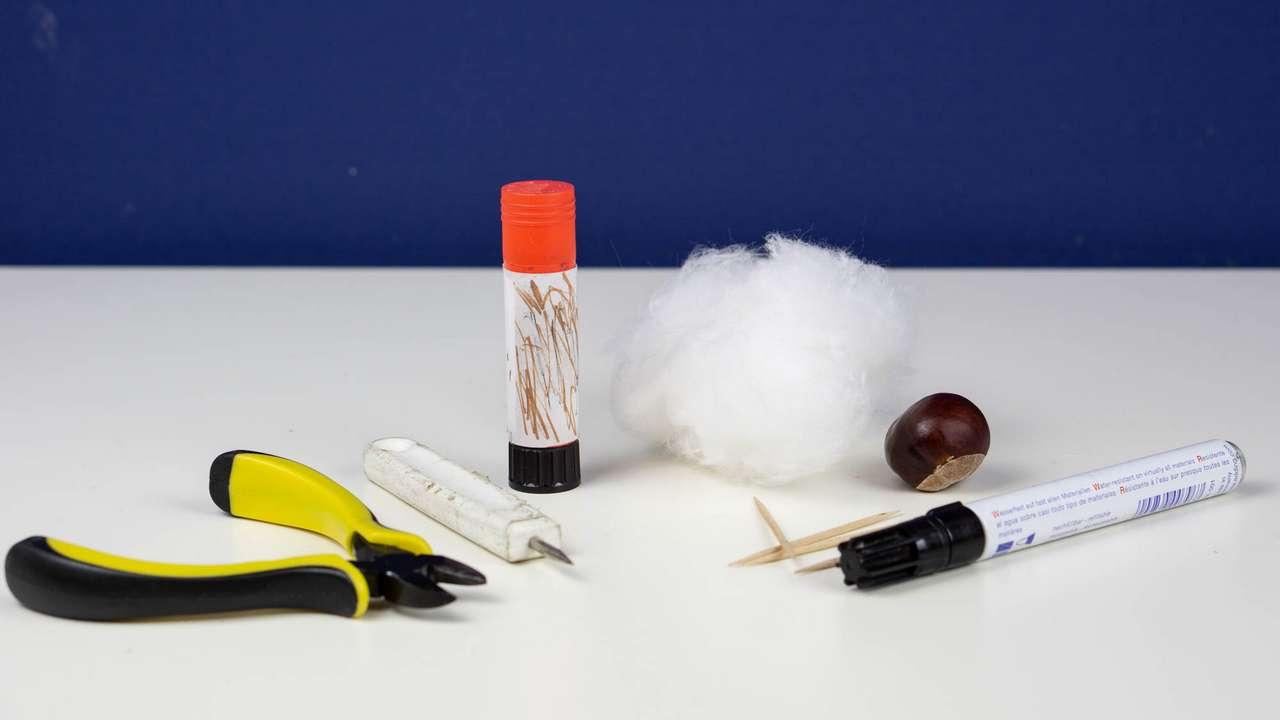 Materialien Basteln mit Kastanien