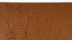Rentier auf Filzmatte gezeichnet