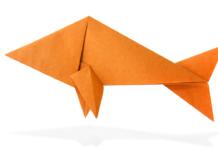 Titelild - Einen Origami Fisch falten für Anfänger - Anleitung