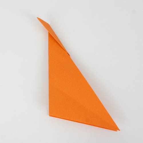 Origami Fisch mit umgeknicker Ecke