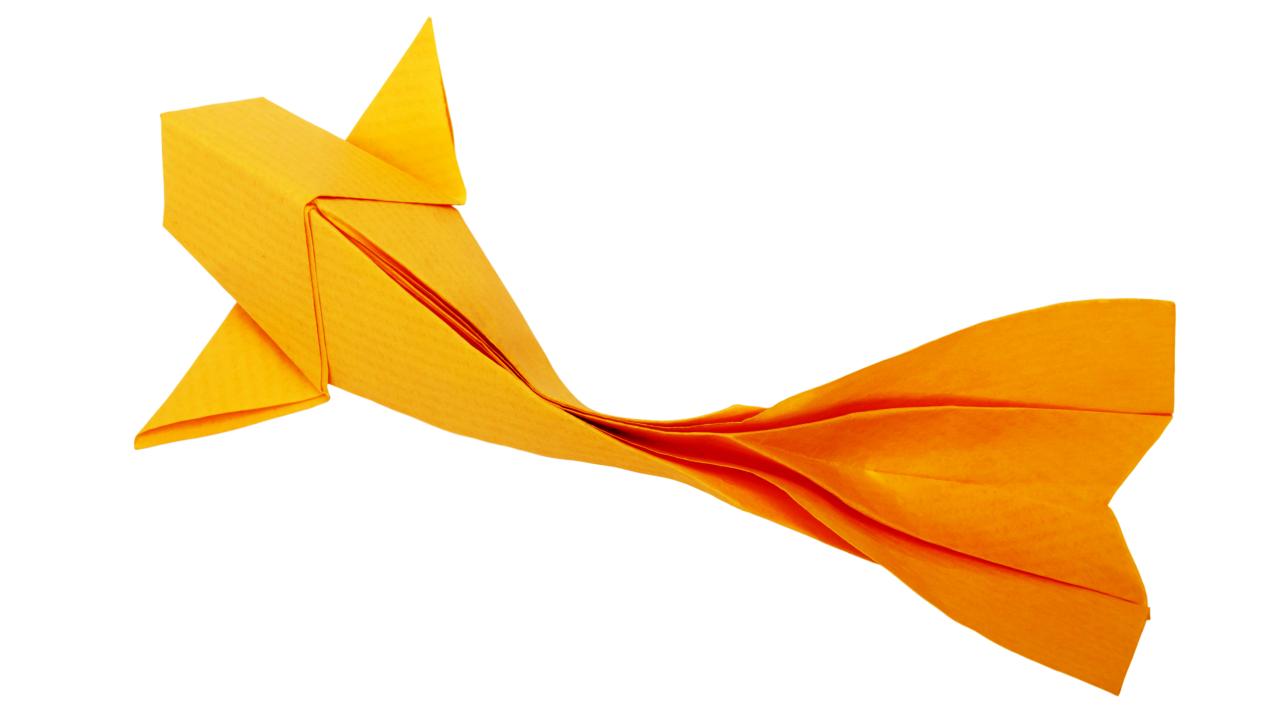 Super Origami Koi Fisch falten » Origami Anleitung für Anfänger » Dauer PX66