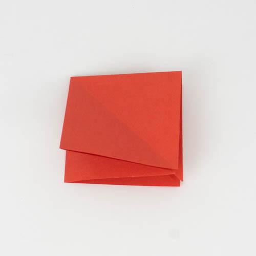 Zusammengeschobenes Quadrat - Origami Kranich falten Anleitung