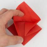 Tasche in die die Seiten gefaltet werden - Origami Vogel