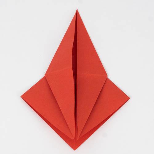 Origami Kranich falten Anleitung