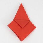 Origamikranich auf die andere Seite gedreht.