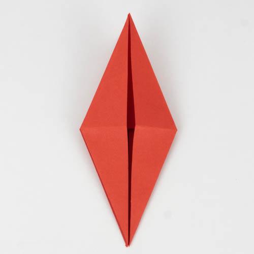 Origami Kranich falten - Schritt 14 von 25