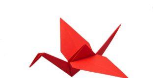 Titelbild - Origami Kranich falten Anleitung