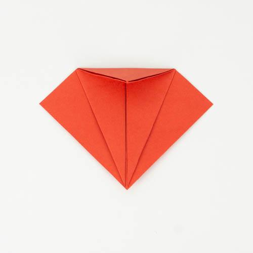 Troopischen Origami Fisch falten - Schritt 10