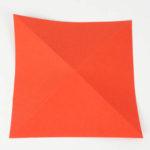 Origami Papier 2-fach Diagonal gefaltet