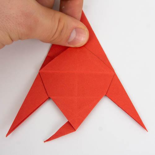 Origami Fisch falten - Schritt 28